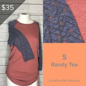Chevron Print Arms and Red Body: LuLaRoe Randy Tee